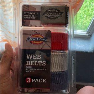 Dickies 3 pack Belts